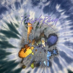 Prince Tops - Prince Purple rain tie dye crop tee